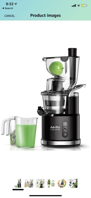 Aeitto Slow Juicer, Slow Masticating Juicer Machine with Big Wide 81mm Chute 900 ml Juice Cup, Cold Press Juicer for Nutrient Fruits and Vegetables, for Sale in Chino Hills, CA