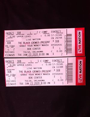 The Black Crowes concert tickets for Sale in Oklahoma City, OK