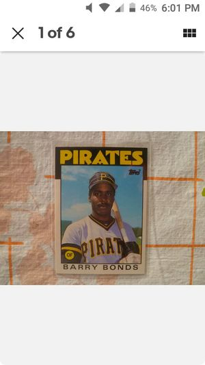 1986 Topps Barry Bonds rookie card. RC. 11T for Sale in NEW PRT RCHY, FL