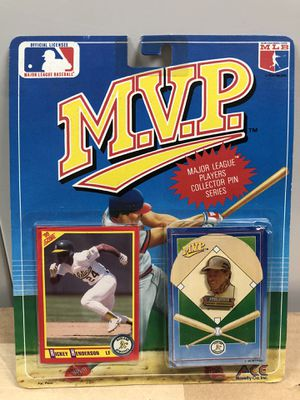 Oakland A's Rickey Henderson MVP First Edition Major League Players Collector Pin Series with Baseball Card *UNOPENED* for Sale in Hayward, CA