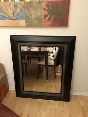 This Elegant Wall Mirror you can put any way that you want, it have different holders in the back for your convenience for Sale in Beverly Hills, CA