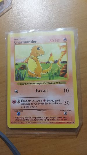 Charmander shadowless pokemon base 1999 mint for Sale in Bothell, WA