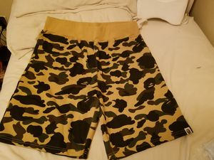 Bape** Authentic** yellow camo shirts for Sale in Houston, TX