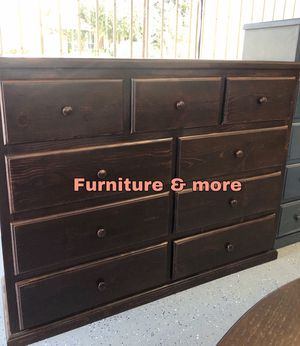 Brown dresser 9 drawers / Cajonera café / Solid wood for Sale in Rancho Dominguez, CA