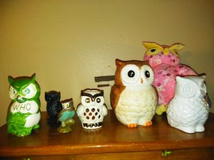 Owls decorations cookie jar for Sale in Anaheim, CA