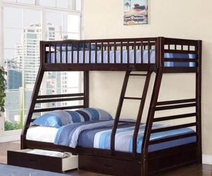 Mission Style Wooden Bunk Bed with Bottom Storage Drawer for Sale in Diamond Bar,  CA