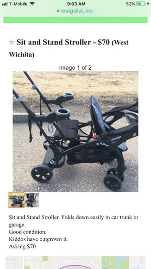 Sit and Stand Stroller for Sale in Wichita, KS
