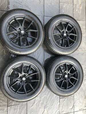 "17"" Matte Black Rims w/ Winter Tires for Sale in Seattle, WA"