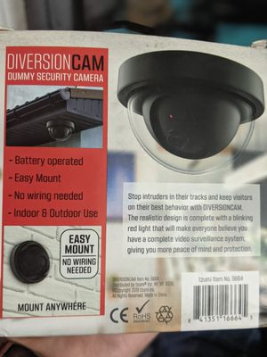 dummy security camera for indoor outdoor use for Sale in Fresno, CA