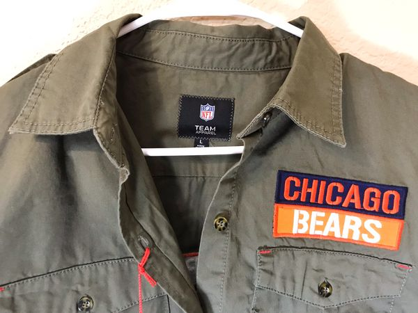 Men's NFL Chicago Bears Military Style Shirt NEW NWT