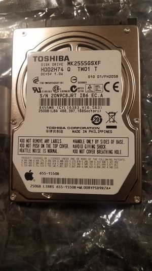 """Toshiba 250 GB 2.5"""" Laptop HDD for Sale in Cary, NC"""