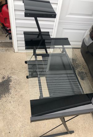 Glass computer desk and tv stand for Sale in Smyrna, TN