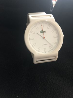 Original Lacoste white watch (brand new battery) for Sale in Washington, DC