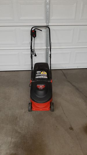 """13"""" MTD Electric Lawnmower with Bagger for Sale in Tacoma, WA"""
