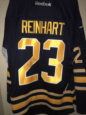 Sam Reinhart men's large Sabres jersey New autographed. With tags. for Sale for sale  Lancaster, NY