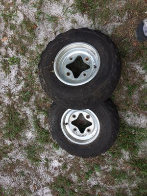 honda 400ex ,300ex front rims and tires for Sale in Dover, FL