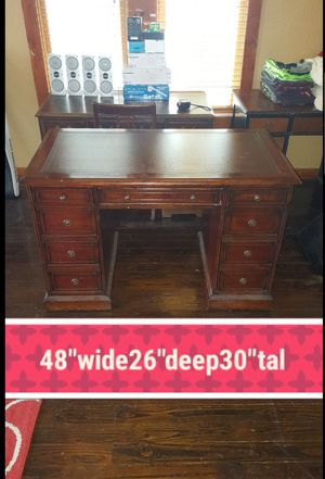 Sevens seas by hooker furniture executive desk with writers top for Sale in Tampa, FL