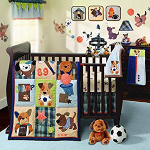 Puppy sport crib bedding for Sale in Bakersfield, CA