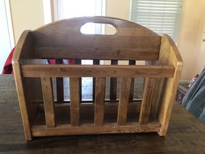 """Solid Oak Magazine Rack - 19 3/4""""x16 1/2""""x11 1/4"""" for Sale in Bowie, MD"""