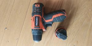 Ridgid drill and 12 volt battery for Sale in GOODLETTSVLLE, TN