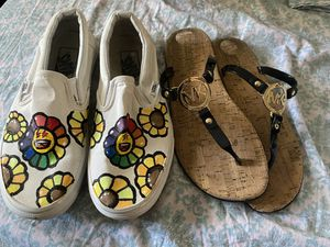 Custom Vans size 7 and Michael Kors sandals size 8.5 for Sale in Hayward, CA