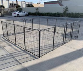 New 40 inch tall x 32 inch wide each panel x 16 panels heavy duty exercise playpen adjustable fence safety gate dog cage crate kennel for Sale in South El Monte,  CA