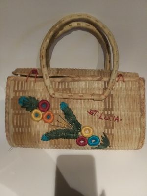 Vintage St.Lucia Straw purse for Sale in Clarkston, GA