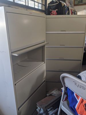 Awesome industrial storage cabinet shelves metal come take now for Sale in Long Beach, CA