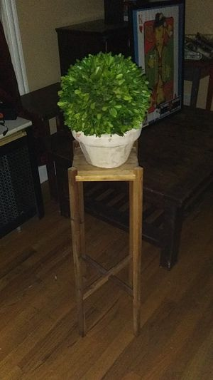 Plant stand and Ikea fake plant for Sale in Chicago, IL