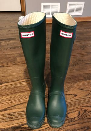 Green Hunter Rain Boots Size 9 for Sale in Chicago, IL