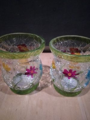 Crackled glass Candle holders for Sale in Nether Providence Township, PA