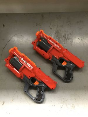 Two NERF N-strike Elite Mega CycloneShock Blaster A9249 for Sale in SHENDOAH JCT, WV