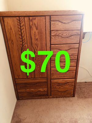Furniture real hard wood antique dresser book shelf desk mirror for Sale in Torrance, CA