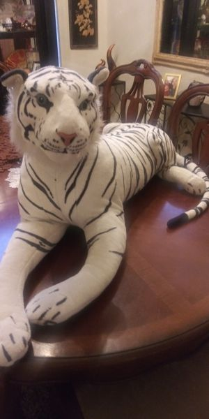 White tiger stuffed animal for sale great condition for Sale in Riverside, CA