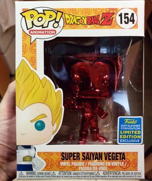 Funko POP! Animation: Dragon Ball Z - Super Saiyan Vegeta (Red Chrome) #154 - 2019 SDCC Shared Exclusive for Sale in Miami, FL