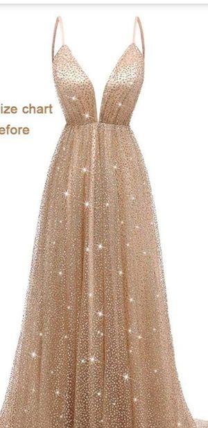 Sparkling Deep V-Neck Prom Dresses Long Backless for Sale in Bell, CA