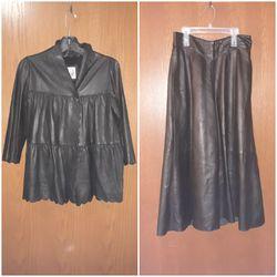 Leather jacket & skirt for Sale in Wichita,  KS