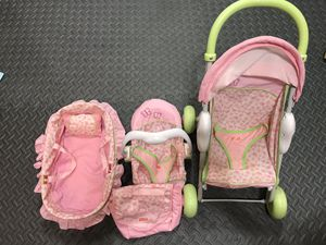 Fisher Price stroller, car seat, bassinet toy for Sale in Lynnwood, WA