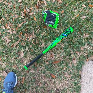 Small Baseball Bat And Glove for Sale in Pearland, TX