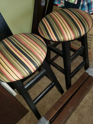 "2 stools. 24"" HEIGTH. WOODEN for Sale in Houston, TX"