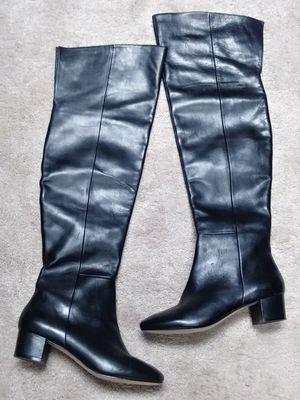 Aldo Black leather knee boots Sz 8.5 for Sale in Atlanta, GA