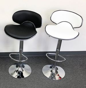 (New in box) $40 each Barstool Modern Chair Swivel Adjustable Bar Stool PU Leather (White or Black) for Sale in Whittier, CA