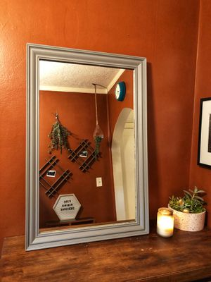 Large Rustic Wood Wall Mirror for Sale in Portland, OR