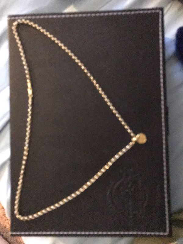 David Yurman Ship-wreck charm and necklace.