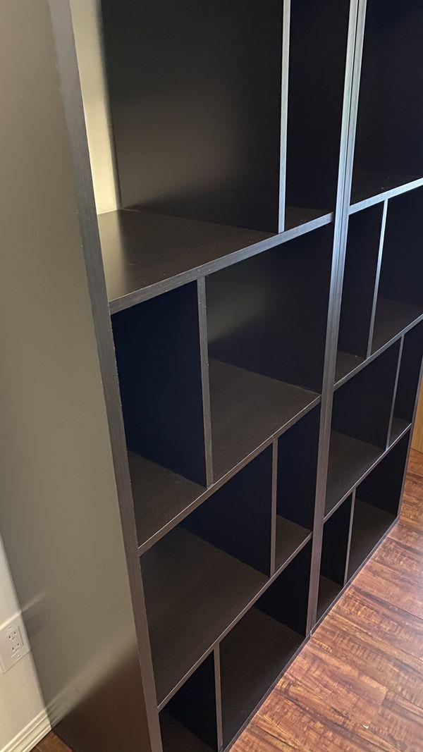 Bookshelves Dark Brown Set Of Two