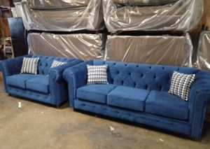 $1100 brand new chesterfield sofa and loveseat for Sale in Huntington Beach, CA