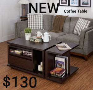 Modern Multi-Storage Coffee Table in Walnut for Sale in Ontario, CA