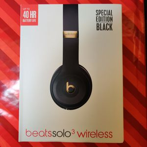 Brand New BEATS SOLO 3 Special Edition Black **Now under 1/2Price!** for Sale in Greenwood Village, CO