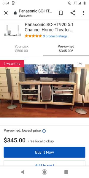 Panasonic SC-HT920 Stereo System (open to trades) for Sale in Seattle, WA
