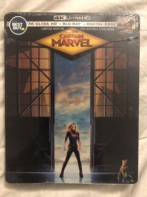 Captain Marvel 4K, Blu Ray, & Digital Copy Steelbook for Sale in Whittier, CA